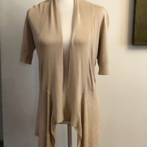 Nwt short sleeve knit drapery cover-up